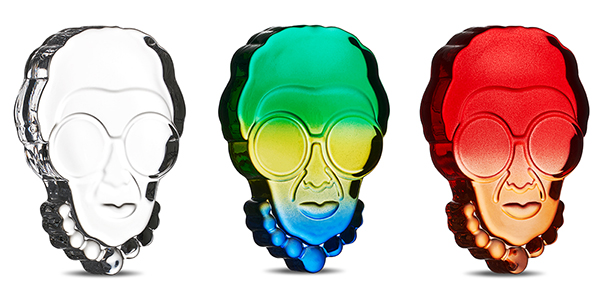 Iris Apfel Paperweight by Nude Glass